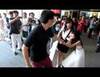 สาวCJ  แฟนหนุ่ม บุกฉุดตัว หน้าห้าง กลางฝูงชน แฟนสาว
