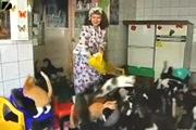 ผู้หญิง เลี้ยงแมวจรจัด ไซบีเรีย