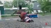 คลิป อุบัติเหตุ หัวทิ่ม ทั้งคนทั้งม้า