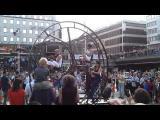 วงดนตรีชิงช้าสวรรค์ ปั่นจักรยานวงล้อในเทศกาลกลางกรุงสตอกโฮล์ม