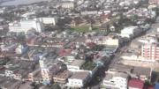 ภาพมุมสูง เมือง สงขลา ก่อนฮ.ลงจอด