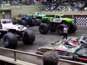 คลิป แข่งรถ big truck funny car