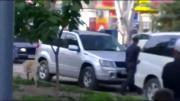 คลิป ตำรวจรัสเซียโหด ยิงสุนัขตายคาที่