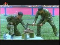 คลิป หาชมยาก! โชว์การฝึกของทหารเกาหลีใต้ ต่อหน้า คิม จอง  อึน