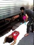 สภาพศพ!สาวที่โดนรถไฟชนแถวยมราช
