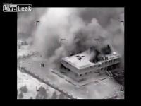 คลิป Weapons system video of U.S. airstrike against an ISIL compound northwest of Ar Raqqah