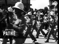 สงครามโลก ประเทศไทย กรุงเทพ การสวนสนาม สัมพันธมิตร 1946