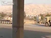 คลิป  Soldier Crashed by T62 Tank Against Truck that was to be Towed