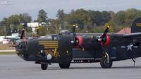 คลิป B-24J liberator startup, taxi and take off.