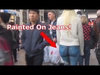 หญิงอเมริกันเพ้นท์ท่อนล่างแทนกางเกง เดินทั่วนิว ยอร์ค