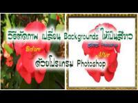 เปลี่ยนพื้นหลังภาพ, เปลี่ยนพื้นหลัง, โปรแกรม Adobe Photoshop, วิธีตัดภาพ, เปลี่ย