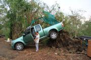 พายุงวงช้างถล่มอยุธยา พัดบ้านพังกว่า 200 หลัง กวาดรถกระบะลอยไปติดต้นไม้