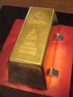 ทองคำแท่ง ทองคำ หนักที่สุดในโลก  ใหญ่ที่สุดในโลก Largest Gold Bar