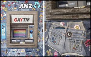 ตู้กดเงิน ตู้เอทีเอ็ม เกย์ ชาวสีม่วง ประเทศออสเตรเลีย