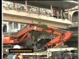 อุบัติเหตุ  ข่าว สะพานลอย  รถบรรทุก ถนนรามคำแหง เขตบางกะปิ