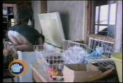 คลิป แม่บ้าน ล้าง ทำความสะอาด ตู้แช่ หัวทิ่ม หล่น ตก ตลก ขำ ฮา