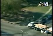คลิป รถบรรทุก รถพ่วง หลบหนี การไล่ล่า ตำรวจ ถูกจับ ไม่รอด