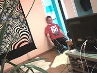 คลิป หนุ่มเมา ผูกคอตาย ผ่านก้อง Webcam