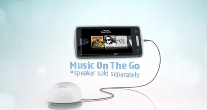 nokia โนเกีย c6 touch screen จอ สัมผัส facebook twitter camera กล้อง ล้าน พิกเซล สมาร์ทโฟน smart pho