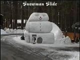 คลิป หิมะ นำแข็ง สไลด์ ของเล่น เด็กๆ สนกสนาน น่ารัก เครื่องเล่น