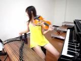 คลิป แหล่มเลย นักดนตรีสาว ขาขาวๆ นุ่งสั้น หลากความสามารถ