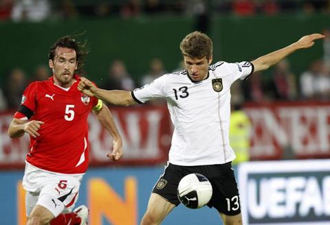 ออสเตรีย 1-2 เยอรมัน..ฟุตบอลยูโร 2012 รอบคัดเลือกกลุ่ม A