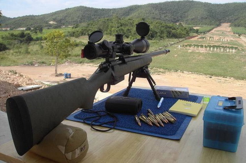ปืน ยิง โชว์ ปืนสั้น กระสุน ปืนยาว ทดสอบ วิถี กระสุน