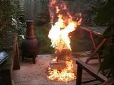 เครื่องดูดฝุ่น ดูด น้ำมัน ติดไฟ ดับไฟ
