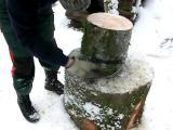 คลิป ไอเดีย ความคิด เจ๋ง สับฟืน ต้นไม้ ผ่าฟืน How to Chop Firewood