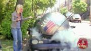 คลิป สุดฮา เมื่อดาวเทียมนาซาตกใส่รถ
