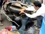 คลิป อุบัติเหตุรถมอเตอร์ไซค์สุดน่ากลัวในปากีสถานวิดีโอ