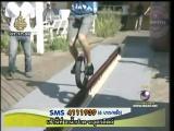 หนุ่มเยอรมัน ทุบสถิติ ขี่จักรยานล้อเดียว บนขวดเบียร์
