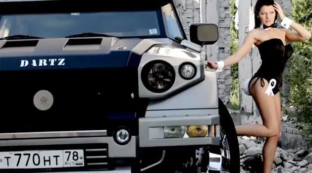 รถหุ้มเกราะ ผู้หญิง สวย แกร่ง แรงส์ DARTZ PROMBRON