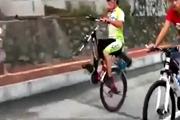 จักรยานล้อเดียว ขี่ได้ ไม่มีปัญหา จักรยาน ไม่มีล้อหน้า