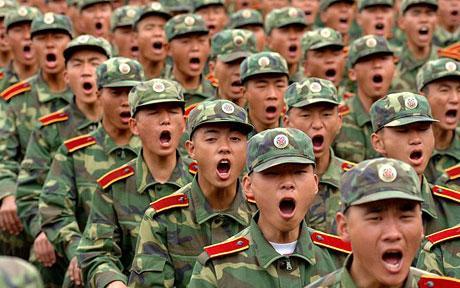 จีน กองทัพใหญ่ที่สุดในโลก