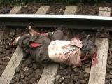 คลิป สภาพศพที่โดนรถไฟทับ