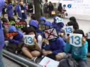 071029 E.L.F ประท้วง เรื่อง SJ คนที่ 14 at SM Building Super Junior suju เอสเจ