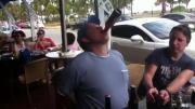 คลิป ดื่มเบียร์3ขวด37วิไม่ต้องใช้มือ