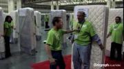 สถิติโลก บันทึก โดมิโน่มนุษย์ โดมิโน่ฟูก โดมิโน่ที่นอน Human mattress world reco
