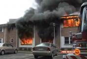 อุบัติเหตุ เครื่องบิน ตก เสียหาย น่ากลัว ไฟไหม้ อาคาร บ้าน ที่อยู่อาศัย เอฟ18 กองทัพเรือ สหรัฐอเมริก