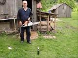 คลิป การเปิดขวดเบียร์ด้วยเลือยยนต์