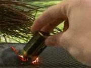 คลิป จุดไฟ flame instant 9 volt  wool