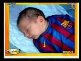 ลูกชายวัย 2 สัปดาห์ Messi เซ็นสัญญาเป็นนักเตะ ข่าวกีฬา