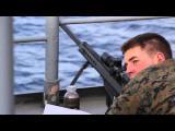 us marines Snipers โจมตีเรือขนาดเล็ก