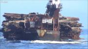 ขน ซุง ท่อนไม้ เรือบรรทุก เรือ