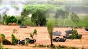 การฝึกผสม คชสีห์ ยานเกราะล้อยาง BTR – 3E1