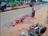 รถชน ร่างกาย แหลก เหลว สงสาร อุบัติเหตุ รถสิบล้อ ละเอียด ร้องให้ แตก เลือด
