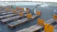 คลิป Hamas firing mortars into the Kerem Shalom crossing