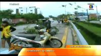เรื่องเล่าเสาร์-อาทิตย์ เก๋งวีออสเสียหลักถนนลื่นชนเสาไฟฟ้าในชลบุรี เจ็บสาหัส2ราย