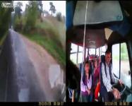 วีดีโอ ภายในรถรับส่งนักเรียนที่เสียหลักลงข้างทาง